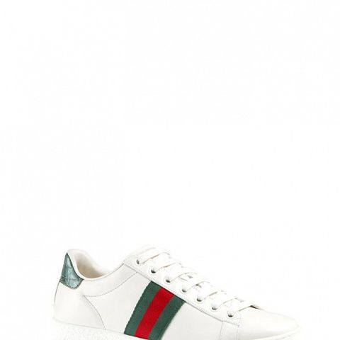 New Ace Web Detail Leather Sneakers