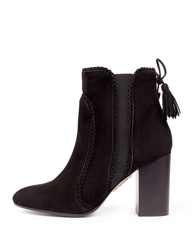 Aquazzura Boho Beatle 85mm Suede Booties