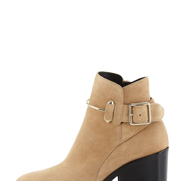 Balenciaga Suede Chunky-Hell Ankle Boots
