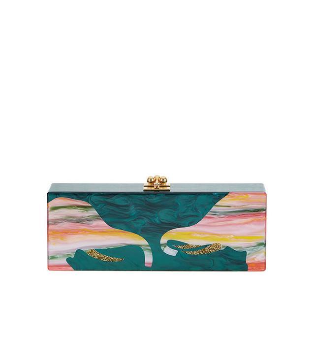Edie Parker Flavia Acrylic Elephant Clutch