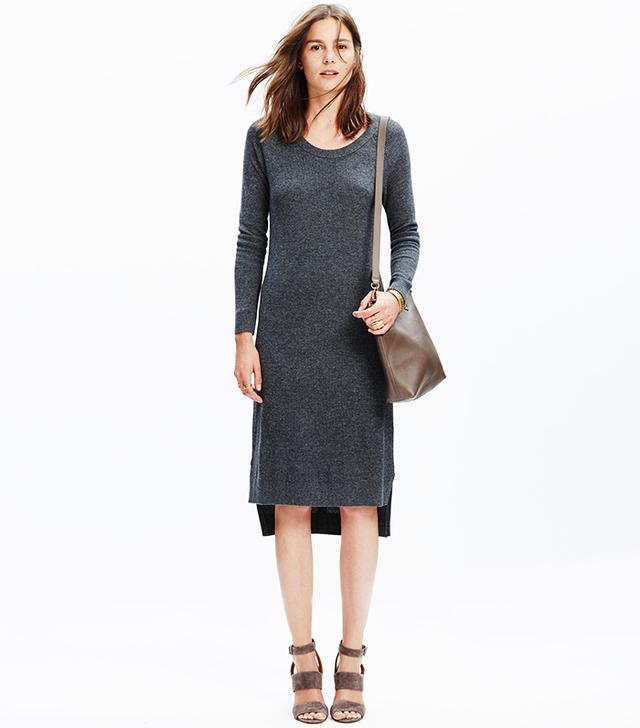 Madewell Side Slit Sweater-Dress