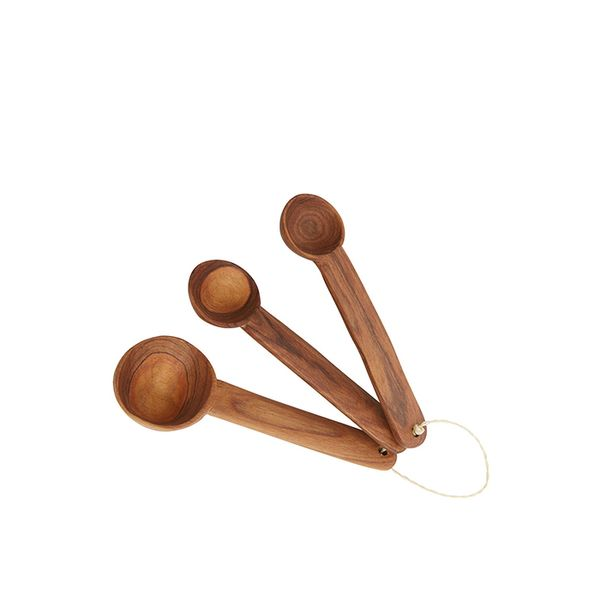 The Little Market Olive Wood Measuring Spoons