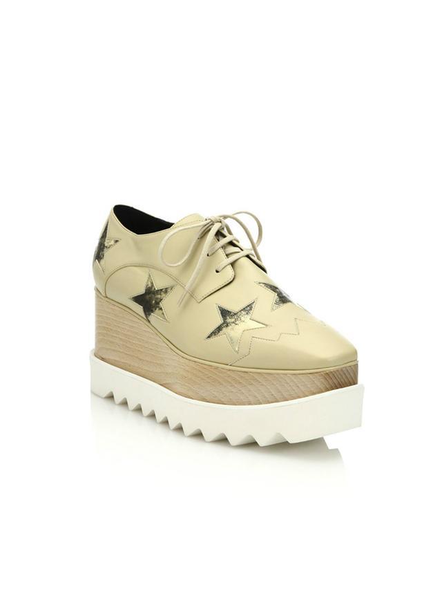 Stella McCartney Star-Embellished Faux-Leather Platform Oxfords