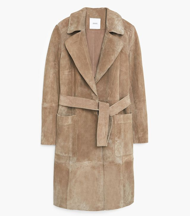 Mango Suede Trench