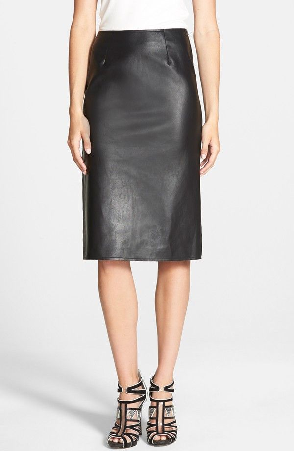 J.O.A. Faux Leather Pencil Skirt