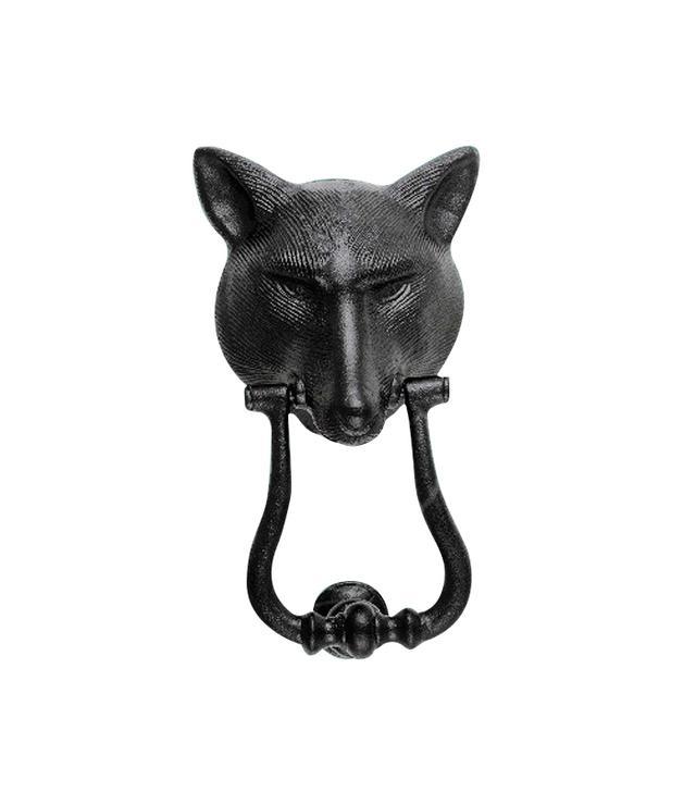 Renovator's Supply Black Cast-Iron Fox Door Knocker