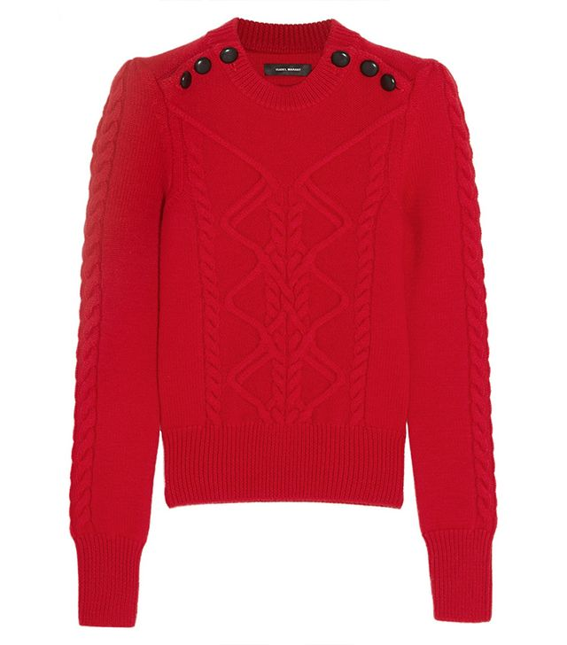 Isabel Marant Dustin Cable-Knit Sweater