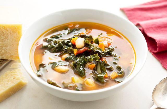 Quick Tomato, White Bean, and Kale Soup