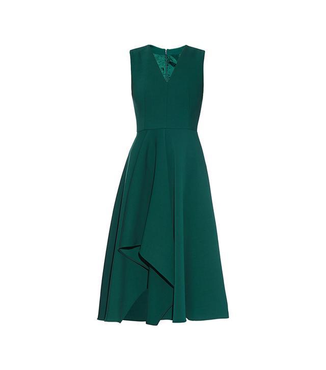 Alexander McQueen Asymmetric-Hem Midi Dress