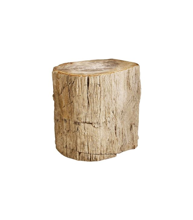 Bernhardt Interiors Petrified Wood Side Table