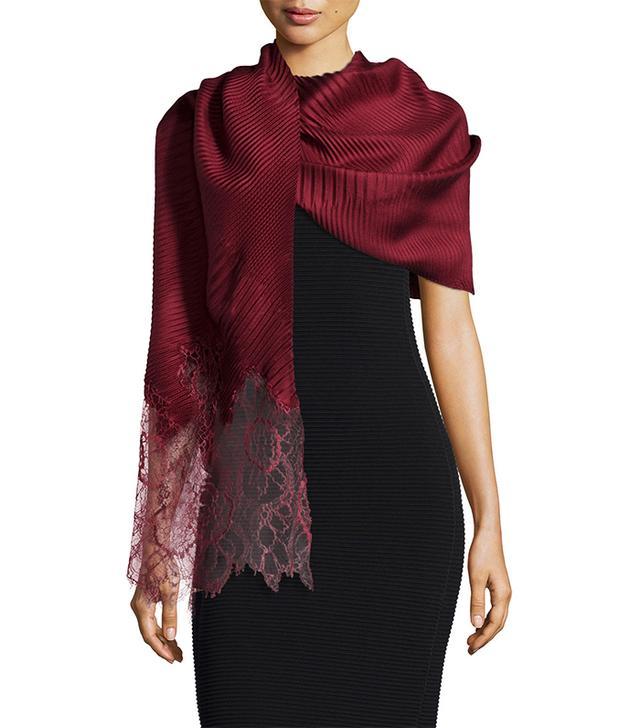 Valentino Plisse Silk Stole