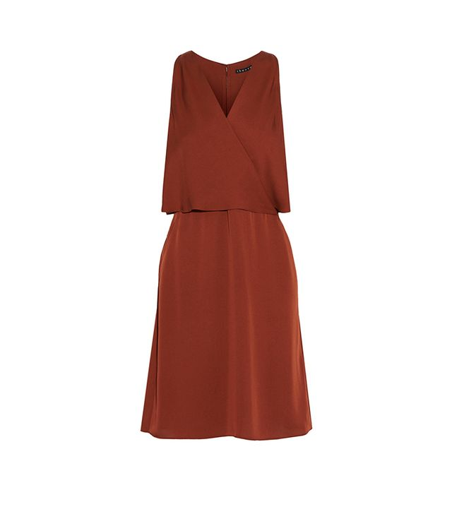 Theory Osteen Layered Silk-Georgette Dress