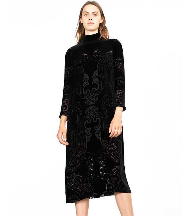 Zara Long Velvet Dress