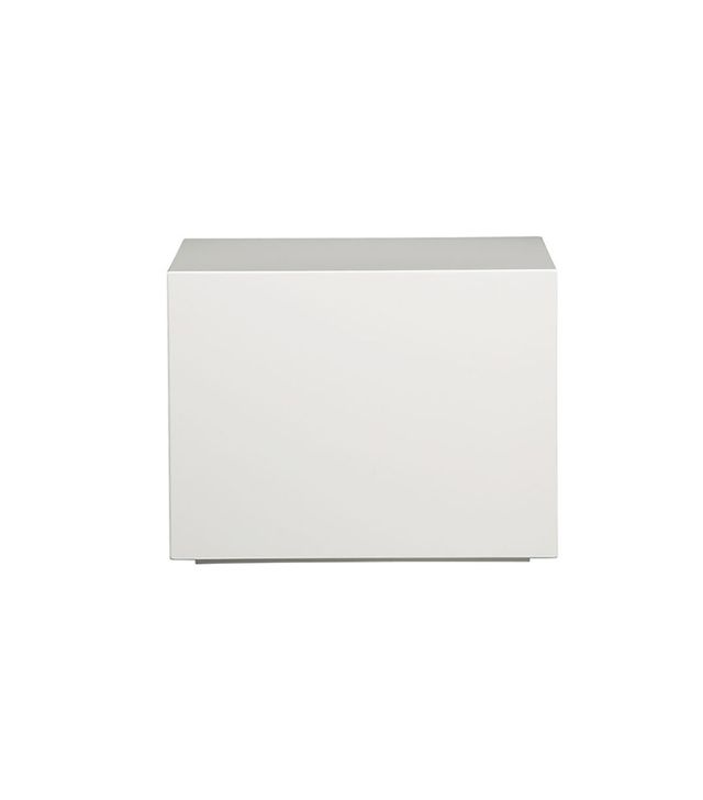 CB2 City Slicker White Side Table