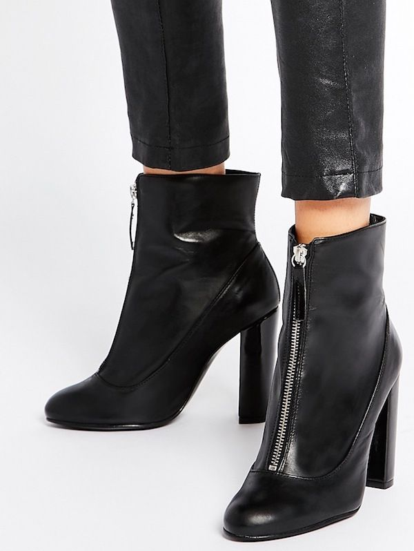 Carvela Stephan Patent Sock Ankle Boots