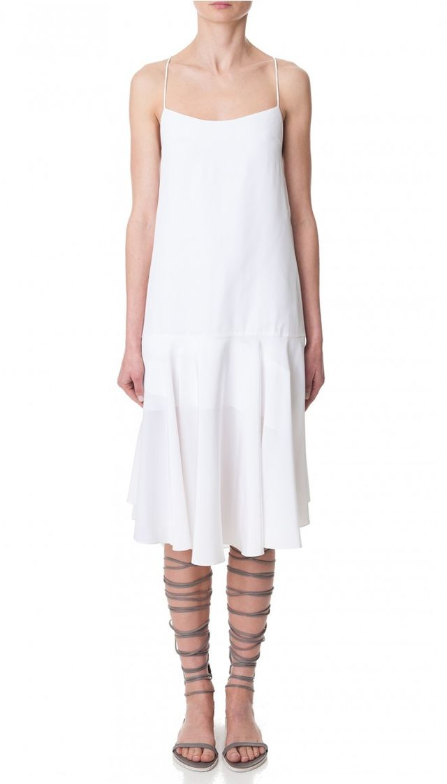 Tibi Silk Tie-Back Cami Dress