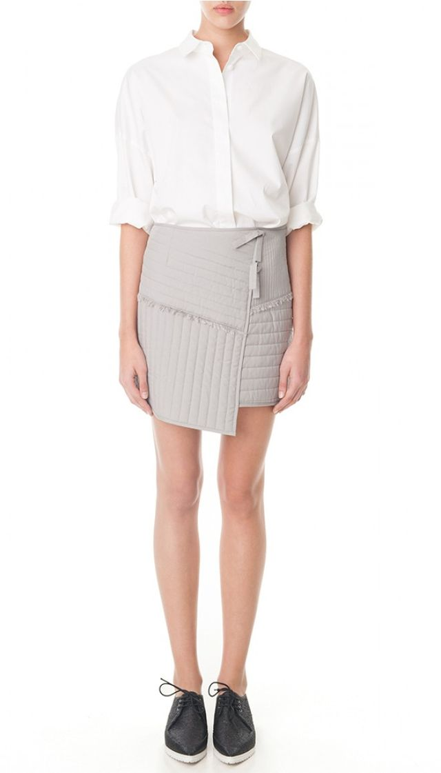 Tibi Mika Jacquard Pleated Skirt