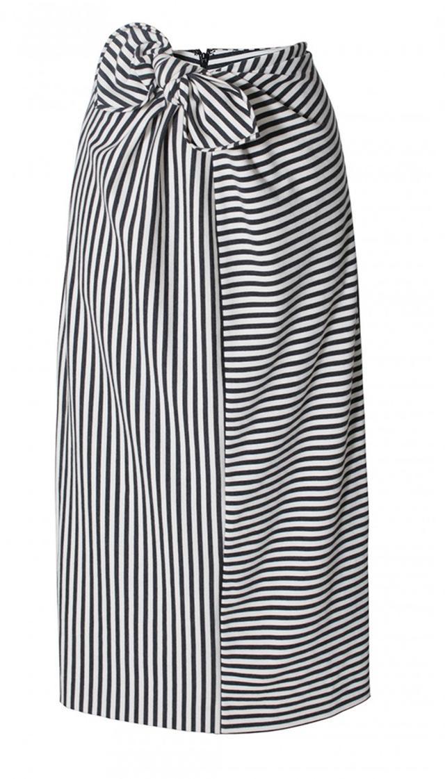 Tibi Ren Striped Knit Pencil Skirt