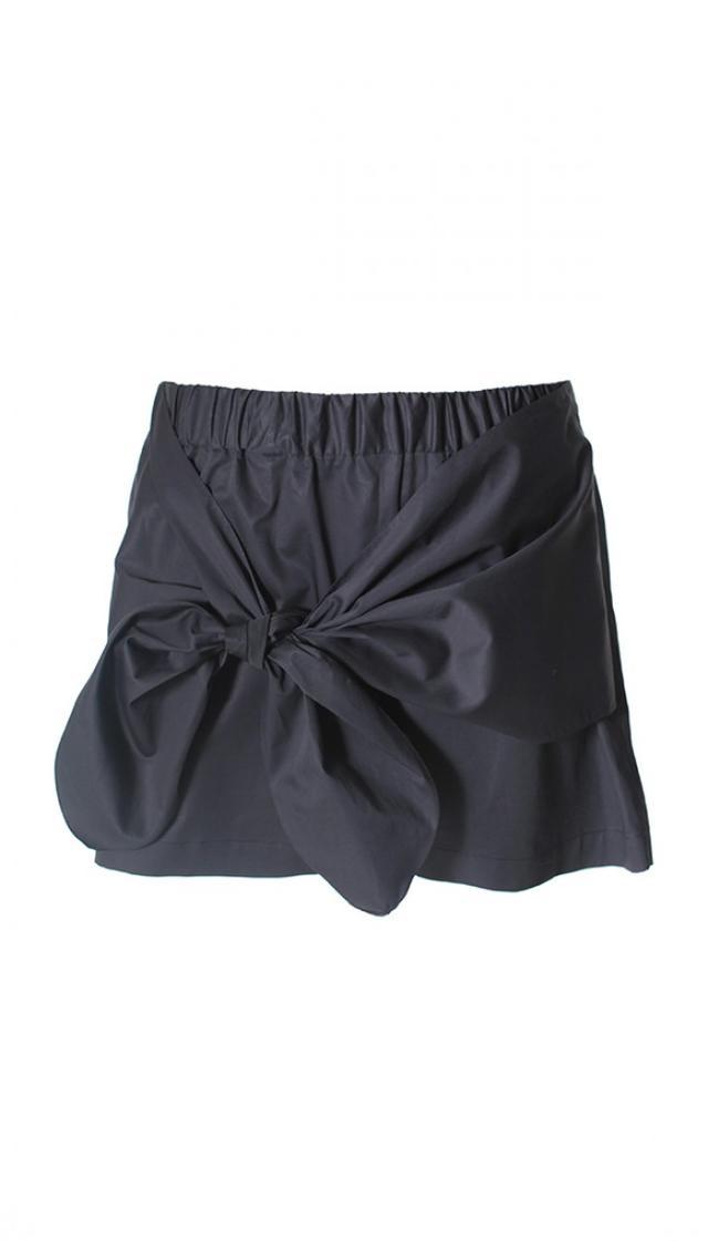 Tibi Satin Poplin Tie Front Shorts