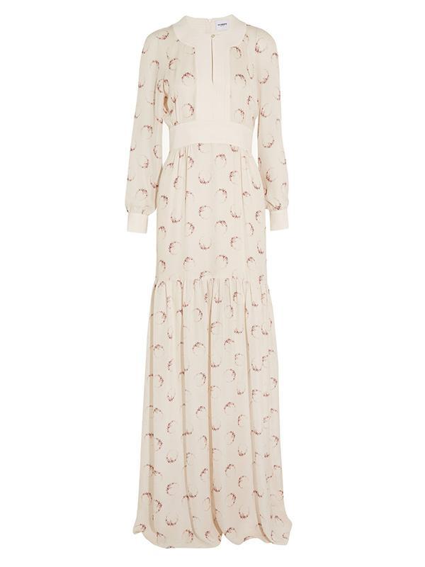 Vilshenko Contance Silk Printed Georgette Gown