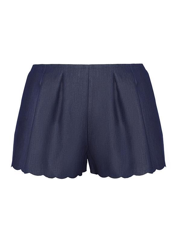 Thakoon Scalloped Denim Shorts