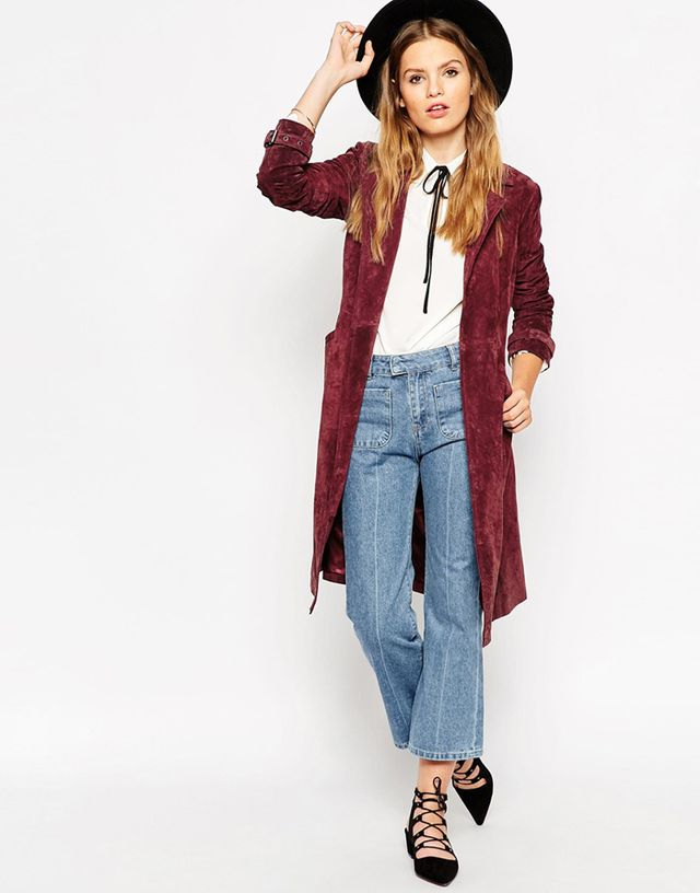ASOS Trench in Suede