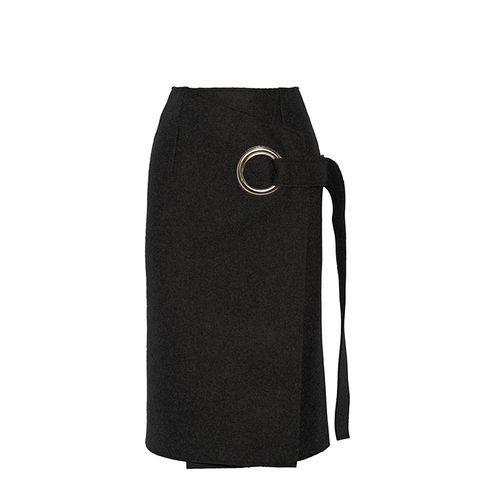 Wool-Felt Wrap Skirt