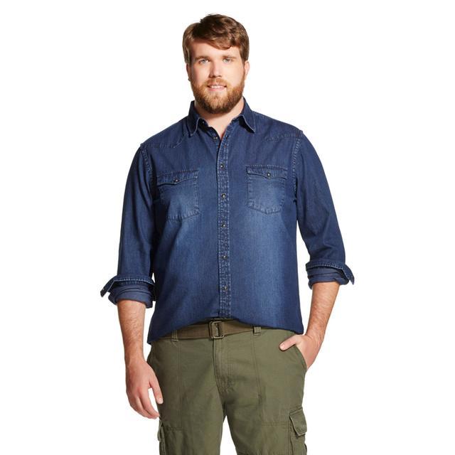Mossimo Men's Big & Tall Denim Shirt