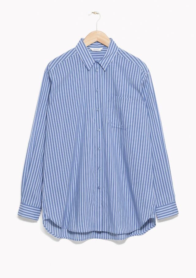 & Other Stories Oversized Striped Shirt