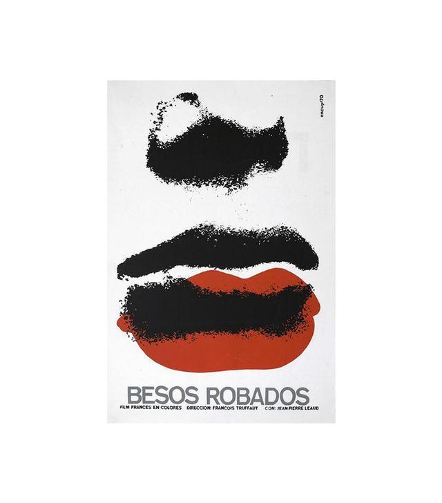 """Vintage """"Stolen Kisses"""" Cuban Serigraph Poster"""