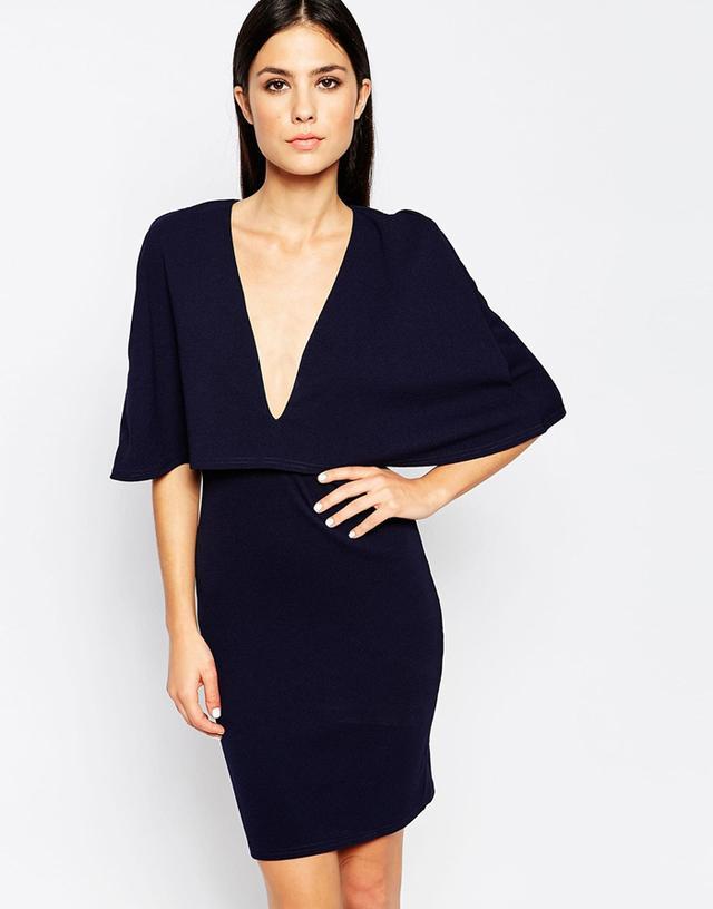 Club L Cape Overlay Dress