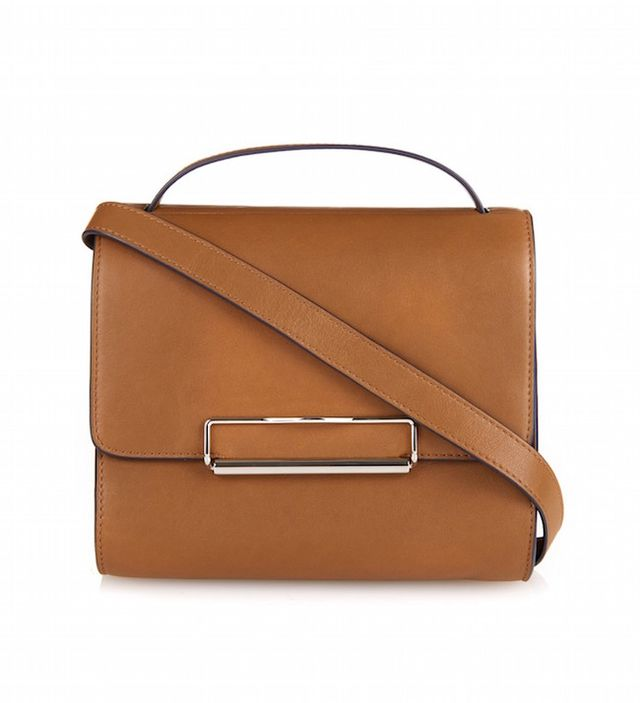 Hillier Bartley Contrast-Trim Leather Shoulder Bag