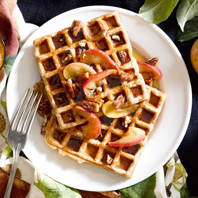 Spiced Caramel-Apple Waffles