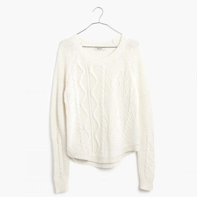 Madewell Block-Stitch Cable Sweater
