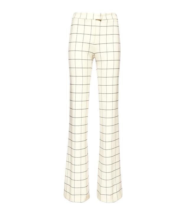 Derek Lam 10 Crosby Box Grid Flannel Flare Pants