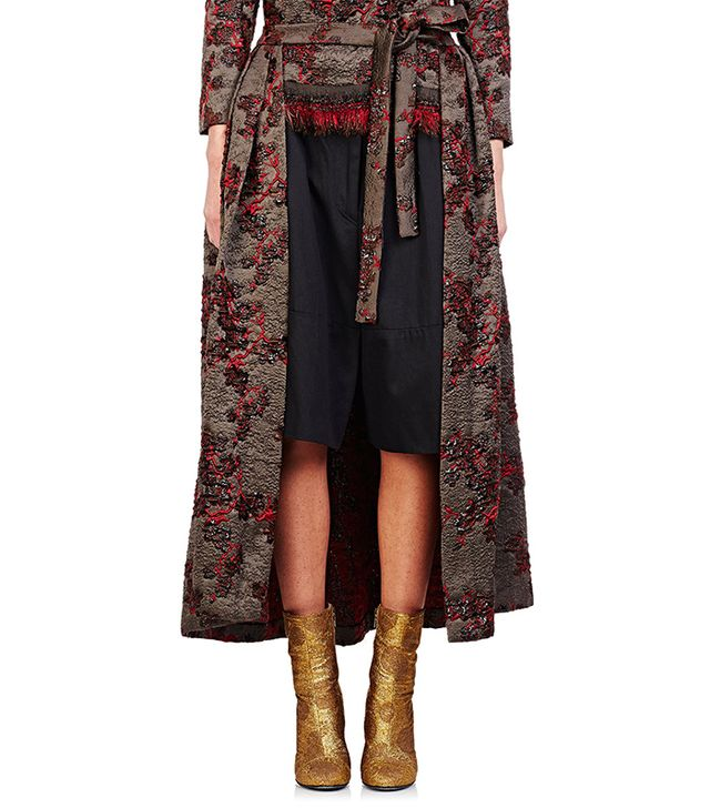 Dries Van Noten Saint Short Convertible Cape Skirt