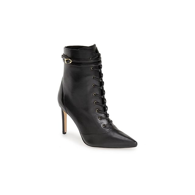 Sam Edelman Bryton Pointy Toe Lace Up Bootie