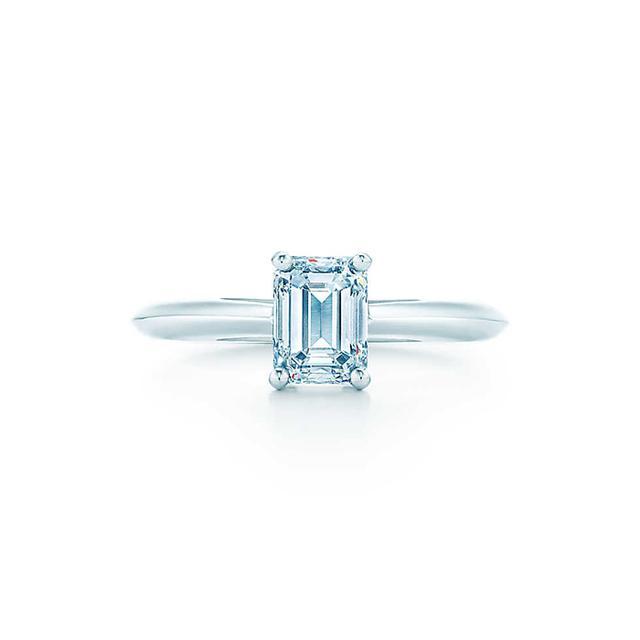 Tiffany & Co. Emerald Cut Engagement Ring