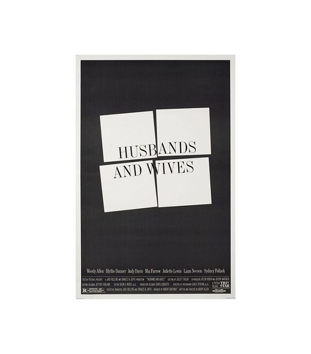 Vintage Husbands and Wives Woody Allen Movie Poster
