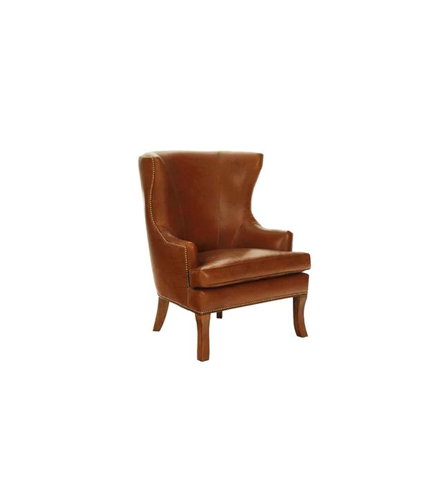 One Kings Lane Thomas Leather Wingback Chair