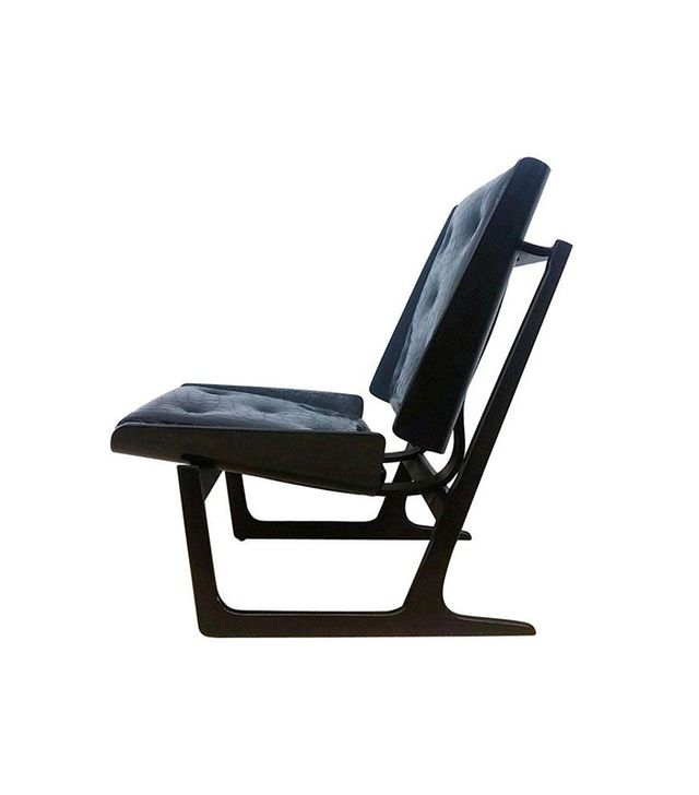 Chairish Vintage Bentwood & Leather Danish Lounge Chair