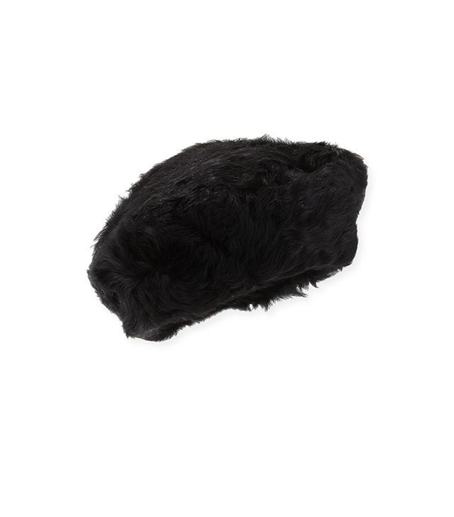 Eric Javits Lamb Shearling Fur Beret