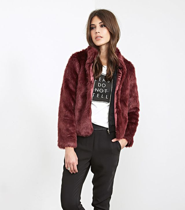 Forever 21 Boxy Faux Fur Coat