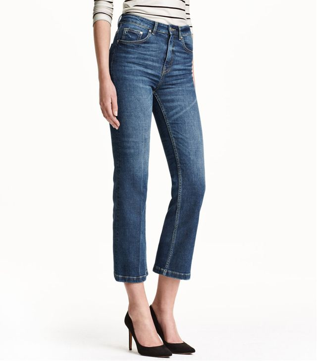 H&M Cropped Flare Jeans