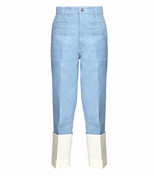 Loewe Fisherman Turn-Up Hem Jeans