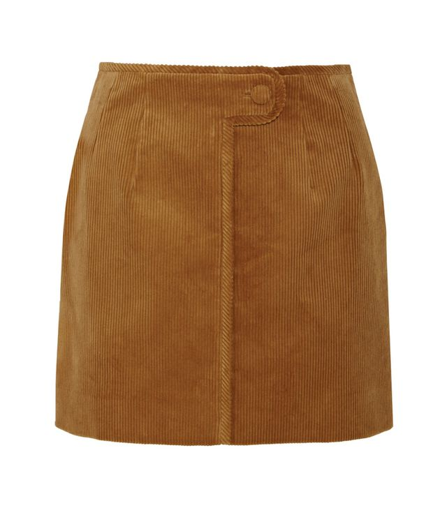 Topshop Unique Otley Cotton-Corduroy Mini Skirt