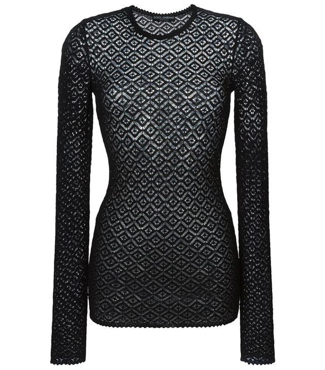 Dolce & Gabbana Lace Knit Sweater