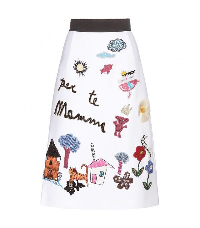 Dolce & Gabbana Embellished Wool Skirt