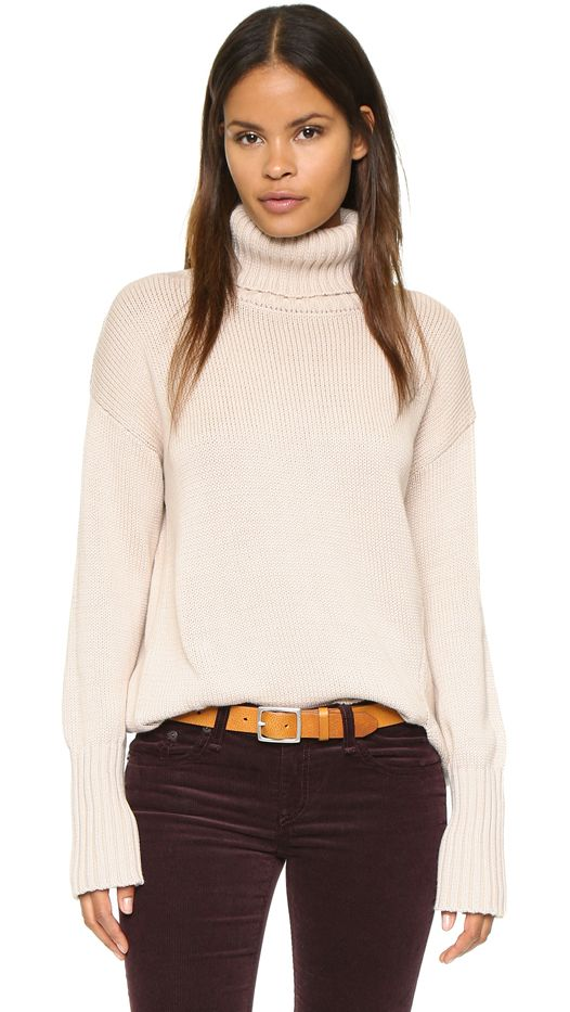 525 America Asymmetrical Turtleneck Sweater