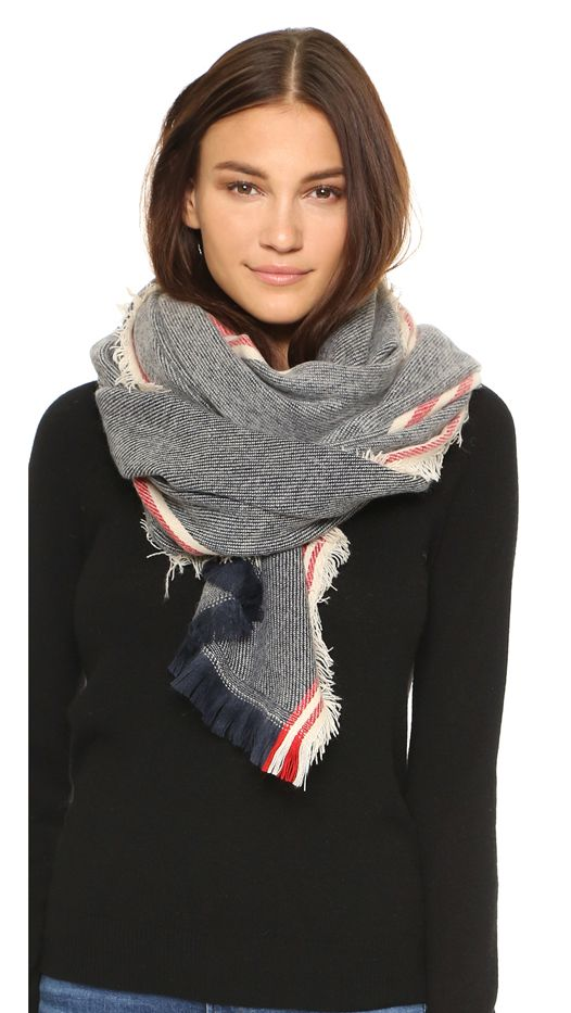 Spun Scarves by Subtle Luxury Running Stripe Scarf
